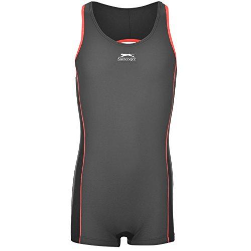 Slazenger Kids Boyleg Swimming Suit Junior Girls Stretch Fit Fabric Swimwear
