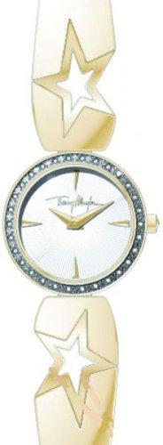 Thierry Mugler 4716501 - Reloj analógico de cuarzo para mujer con correa de acero inoxidable, color dorado