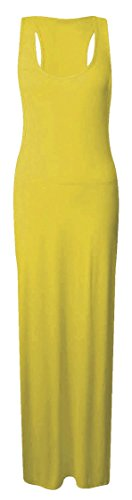 Femmes Longue Robe Longue Jersey Femmes Couleur Unie Dos Nageur Robe Senffarben