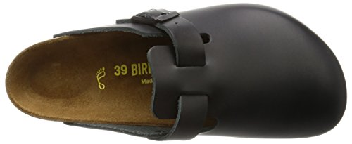 Birkenstock Boston 60101, Sabot unisex adulto Nero (Black Leather)