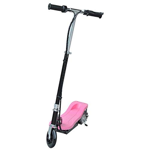 homcom Monopattino Scooter Elettrico per Bambini con Struttura in Metallo Pieghevole 81.5 x 37 x 96cm, Rosa