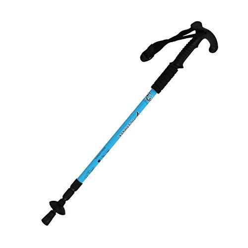 WXZB Alpine Stöcke 6061 super leichte Aluminiumlegierung Teleskoprohrstock für ältere Mitarbeiter Krücken im Freien authentisch vergleichbar mit Carbon 7075, T Griff blau