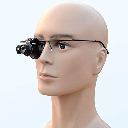 Vergrößern Eye Maske geführte Handy-Uhr-Reparatur Lupe Brille kann von Hand gehalten werden -