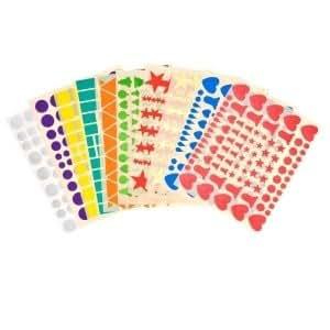 Lot 10 feuilles de gommettes autocollantes env. 1000 stickers