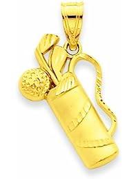 Kleine Schätze - 14 Karat Gold Golf Beutel-Anhänger Halskette (Kommt mit Eine 45 cm Kette)