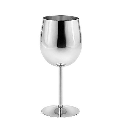 MagiDeal Weinglas Weißwein Glas, aus Edelstahl