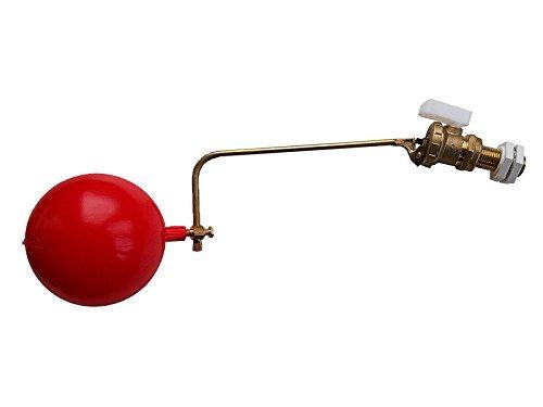 1/2 HP PART 2 BALL COCK FLOAT VALVE & PLASTIC FLOAT by GASERVE LONDON LTD