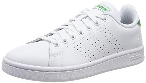 adidas Advantage, Chaussures de Gymnastique Homme, Blanc FTWR White/Green, 43 1/3 EU