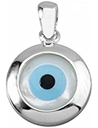 Colgante ojo turco plata ley 925m nácar 14mm. Horus [AA0875]