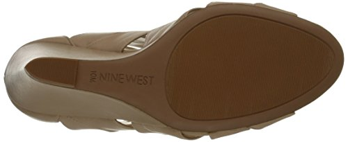 Nine West Cronin Cuir Sandales Compensés Natural