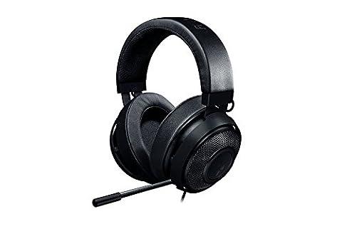 RAZER Kraken Pro V2 Oval - Over-Ear Prise jack Casque Gaming Headset Analogique, Over-Ear Casque Gamer pour PC et PS4, Noir