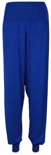 NOUVEAU pour femmes uni Harem Pantalon élastique Maillot femmes SAROUEL LONG BOUFFANT leggings Bleu Roi