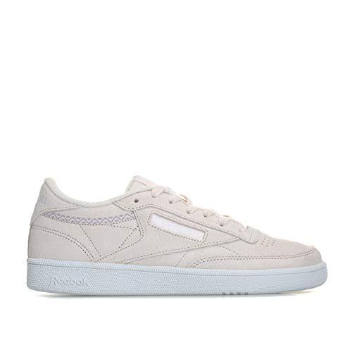 Reebok Damen Club C 85 Trim NBK Tennisschuhe, Rosa (Pale Pink/White/Powder Grey 000), 38,5 EU - Rosa Tennisschuhe