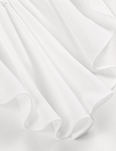 ... Zeagoo Damen V ausschnitte Bluse Elegant Kurzarm Fledermaus T-shirt  Sexy Chiffon Oberteil in S ... e746b6e8ad