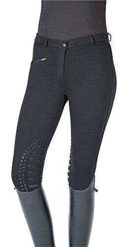 PFIFF Damen-Reithose Cilia mit Kniebesatz (verschiedene Farben und Größen) (42, Schwarz)