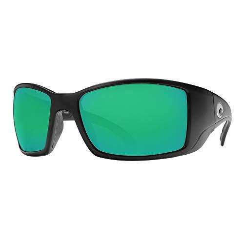 Costa Del Mar New Rufen BL 11Matt Schwarz Sonnenbrille für Herren Gr. 580G, Frame: Matte Black/Lens: Green Mirror
