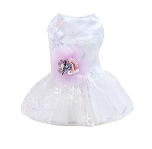 Yslin Puppy Elegant Brautkleider Atmungsaktiv Small Kostüme Weiches Cute Outfit Swing Fashion Jumpsuit Hunde Einfarbig Kleidung