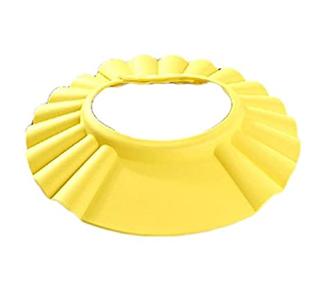 SanWay Safe Shampoo Shower Bathing Protect Soft Cap Hat for Baby Children Kids, button, yellow