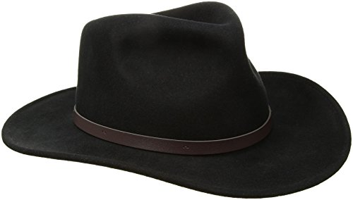 Scala Classico Men's Crushable Felt Outback Hat, Black, X-Large