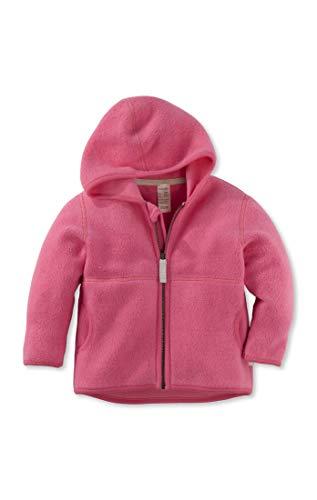 hessnatur Baby Mädchen und Jungen Unisex Fleece Jacke aus Reiner Bio-Baumwolle pink 74/80