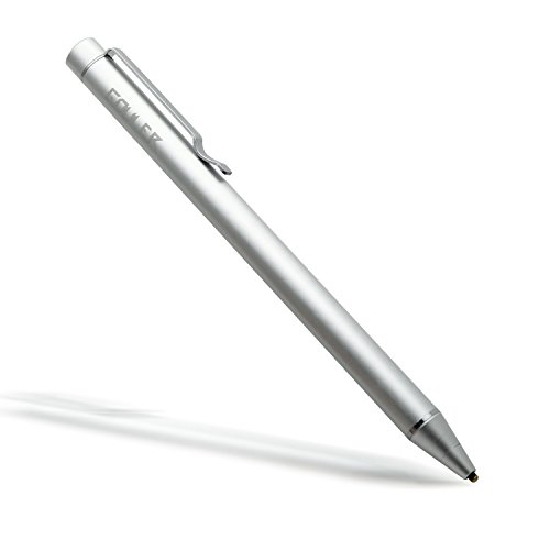 iPad Pen, Gouler Penna per iPad, penna digitale Active Stylus, penna capacitiva ad alta precisione da 1,6 mm con punta in rame per iPad 1/2/3 / mini / pro, iPhone X / 8/8 Plus, tablet Samsung e altri dispositivi touch screen capacitivi (Argento)