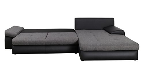 BONO Ecksofa mit Schlaffunktion und Bettkasten in L-Form