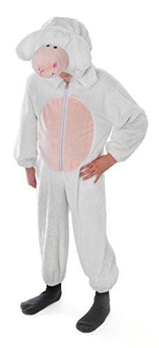Schaf / Lamm - Kinder- Kostüm - Large - 134cm bis 146cm