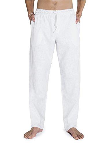 Leinenhose CHINO von SCHAZAD (XL, weiß) (Klassische Leinenhose)