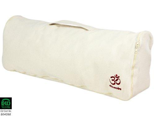 """Sac a tapis de yoga """"Chic & Cool"""" 100% Coton BIO 71 cm - Blanc cassé"""