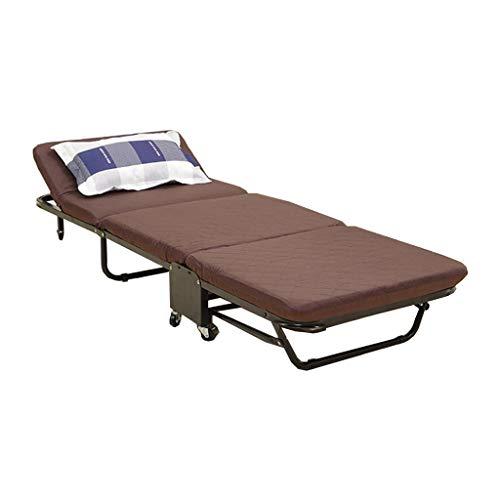 Cama Plegable marrón Oficina de Almuerzo en el hogar Siesta Simple Cama de acompañamiento para Adultos Rollsnownow (Tamaño : 70cm)