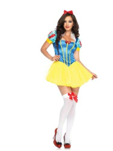 Leg Avenue - 2-teilig Bad Apple Snow White - L - Gelb/Blau/Rosa - 83642 (Apple Für Erwachsene Kostüm)