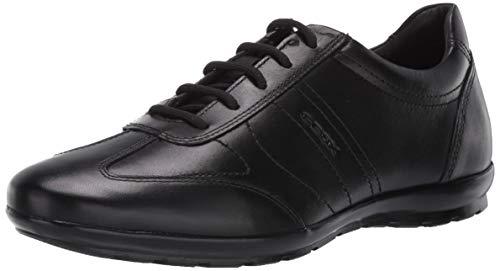 Geox UOMO Symbol B, Zapatos de Cordones Oxford para Hombre, Negro, 43 EU
