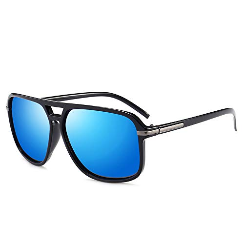 JEEDA Herren Sonnenbrille Polarized UV 400 Protection Classic Aviator Polarized Sonnenbrille Fashion Style von Plastic Frame Ultra Light