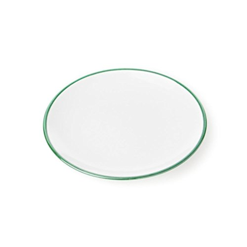 Gmundner Keramik Manufaktur 0190TDCU20 grüner Rand Dessertteller Cup, Durchmesser 20 cm - Grüner Rand