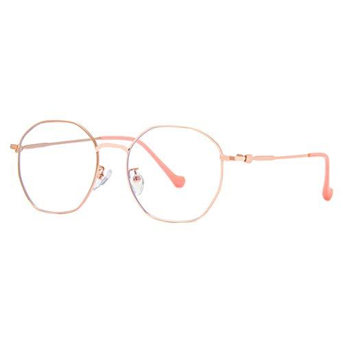Hibote Männer Frauen Anti Blau Licht Brille - Metall Rahmen Polygon Brillen Clear Lens Brillenfassung - 19021830