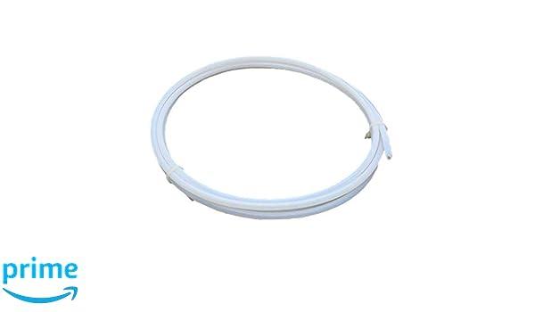 2/Meter PTFE Teflon Bowdenzug Tube 2.0/mm ID 4.0/mm OD f/ür 1,75/mm Filament f/ür 3D-Drucker RepRap Rostock kosselr wei/ß