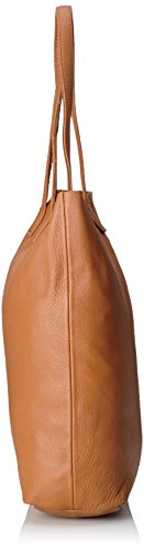 Liebeskind Berlin Damen Viki Vintag Henkeltaschen, 38x36x12 cm Braun (cognac 0006)