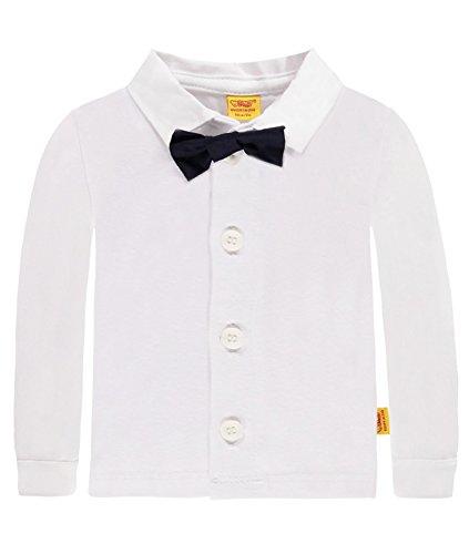 Steiff Baby-Jungen Hemd 1/1 Arm, Weiß (Bright White 1000), 86