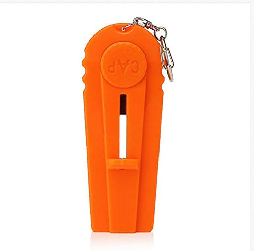 Portable cap Beer Bottle Opener and Cap Launcher Shooter with A Keychain,Shoot Over 5 Metres(3 packs)-orange -