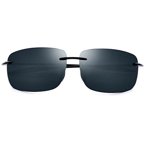 Honneury Herren Sonnenbrille High Definition Nylon Sonnenbrille Outdoor Sports Angeln Gläser (Farbe : Black Frame/Green Lens) (Angel Outfit Black)
