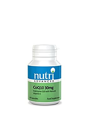 Nutri Advanced CoQ10 Co-Enzyme Q10 30mg with Vitamin E from Nutri