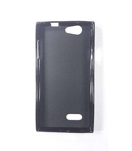 Funda de gel TPU carcasa protectora silicona para ZTE Blade L2 Negra