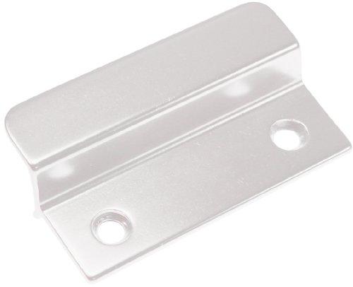 Tür Griffe Aus Edelstahl (Aluminium Balkontürgriff für den Außenbereich 66x40x2,7 Türgriff weiß RAL 9016 mit orginal Bayram® Schrauben aus Edelstahl)