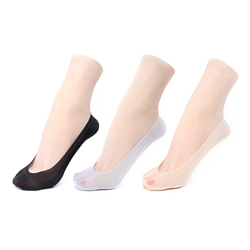 Gray-low Cut Socken (Gather Other Women's No-Show Low Cut Liner Socks with Gel Tab,Pack of 3,Color Mix)