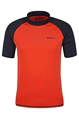 Mountain Warehouse Mens UV Rash Vest with UPF50+ Sun Protection Treatment - Quick Drying Stretch Fabric, Ideal for Swimming and Summer Days Outdoors