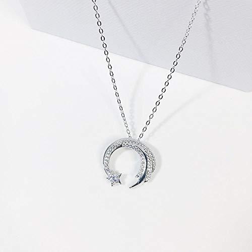 YANRR Damen Halskette 925 Sterling Silber Halskette Meteor Liebe Stern Anhänger