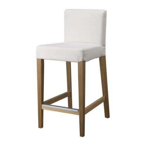IKEA HENRIKSDAL Stuhl, Bezug–Gobo weiß 001.445.55 (Ikea Esszimmer-möbel)