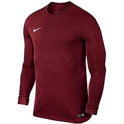 Nike LS Park Vi JSY Camiseta de Manga Larga, Hombre, Rojo (Team Red/White), L
