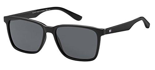 Tommy hilfiger th 1486/s ir 807 55, occhiali da sole uomo, nero (black/grey bluee)
