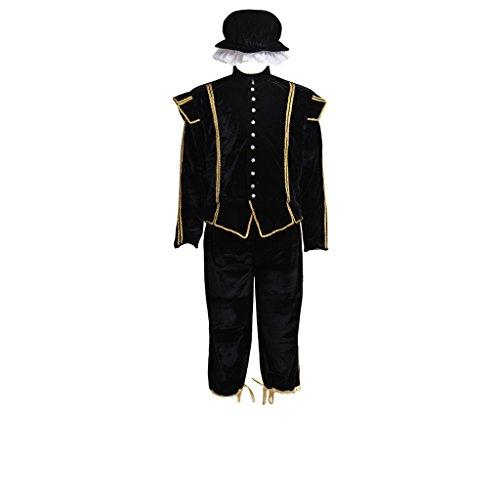 Cosplayitem Mittelalter Kostüm mit Hut Prinz Kostüm Anzug Jacke Erwachsene